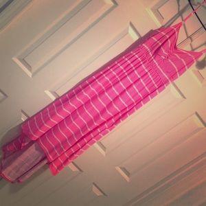 Striped pink sundress